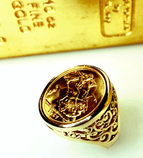 Full Sovereign Gold Ring - Our own design!