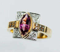 Pink Tourmaline Diamond Ring Normally $3900 NOW