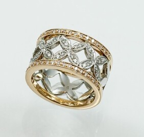 Diamond Rose/White Gold Ring